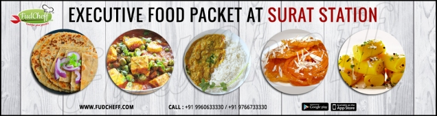 order food pack at your train seat at surat junction with fudcheff