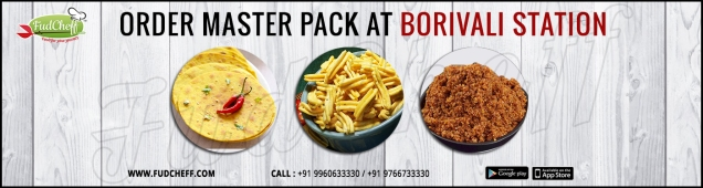 order namkeen snacks pack in train at borivali station with fudcheff