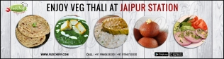order veg-thali in train at jaipur with fudcheff